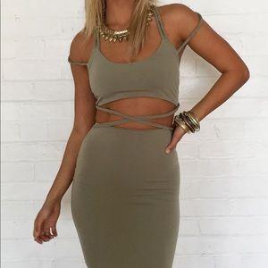 Sabo Skirt Khaki Dress